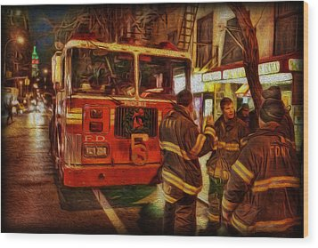 Greenwich Village's Finest Wood Print by Lee Dos Santos