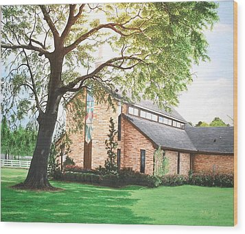 Wood Print featuring the painting Greenwood by Mike Ivey
