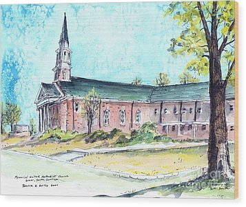 Greer United Methodist Church Wood Print by Patrick Grills