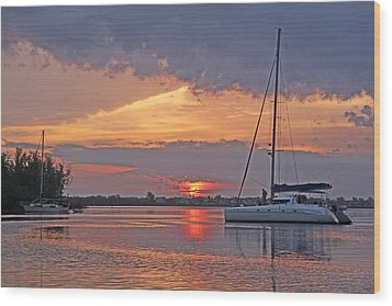Wood Print featuring the photograph Greet The Day by HH Photography of Florida