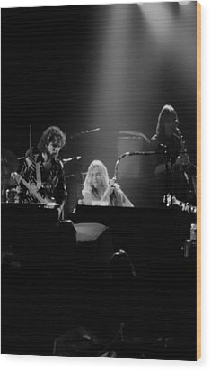 Greg Allman  Wood Print by Kevin Cable
