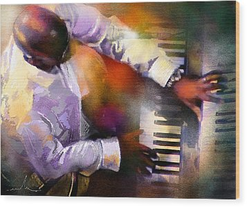 Greg Phillinganes From Toto Wood Print by Miki De Goodaboom