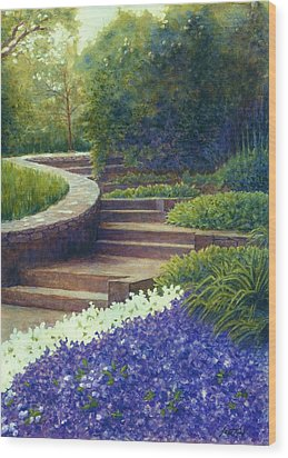 Gretchen's View At Cheekwood Wood Print by Janet King