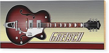 Wood Print featuring the photograph Gretsch Guitar by Anthony Citro
