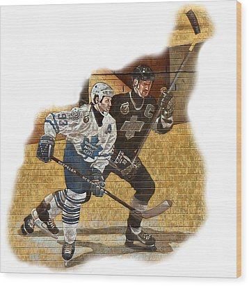 Gretzky And Gilmour Wood Print by Andrew Fare