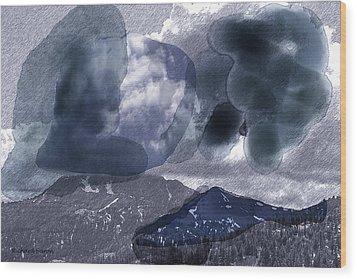 Grey Clouds Wood Print