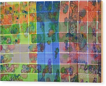Gridlock Wood Print by Holly York