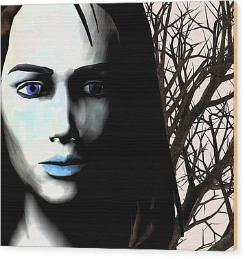 Grief And Depression, Conceptual Image Wood Print by Stephen Wood