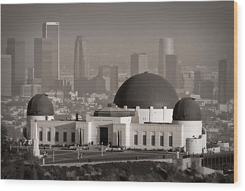 Griffith Observatory Wood Print by Adam Romanowicz
