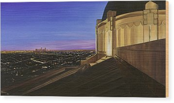 Griffith Park Observatory Wood Print by Christopher Oakley