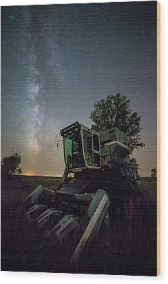 Wood Print featuring the photograph Grim Gleaner  by Aaron J Groen
