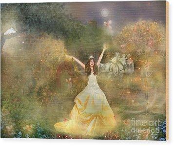 Grimms Fairie Cinderella  Wood Print by Carrie Jackson