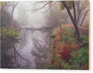 Grings Mill Fog 015 Wood Print