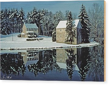 Grings Mill Snow 001 Wood Print