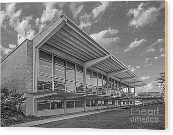 Grinnell College Burling Library  Wood Print by University Icons