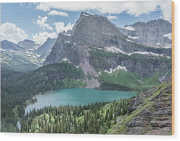 Grinnell Lake From Afar Wood Print