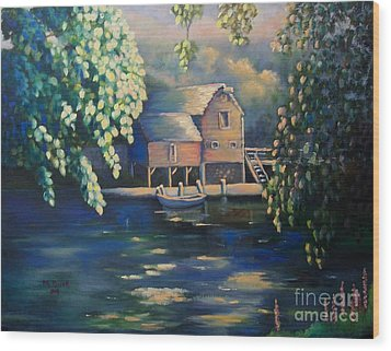 Grist Mill 2 Wood Print by Marlene Book