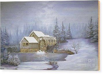 Grist Mill Wood Print