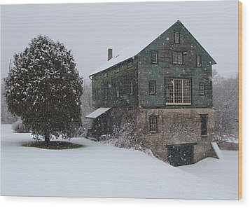 Grist Mill Of Port Hope Wood Print by Davandra Cribbie