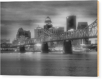 Gritty City Wood Print by Steven Ainsworth