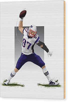 Wood Print featuring the digital art Gronk by Scott Weigner