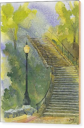 Grotto Stairs Wood Print by John Meng-Frecker