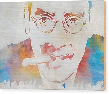 Groucho Marx Wood Print by Dan Sproul