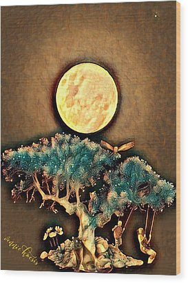 Grounding Wood Print by Vennie Kocsis