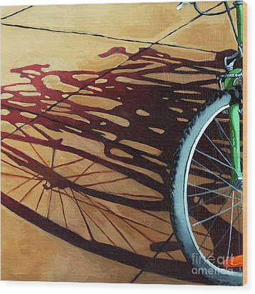 Group Hug - Bicycle Art Wood Print by Linda Apple