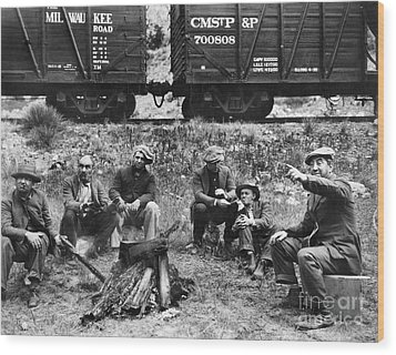 Group Of Hoboes, 1920s Wood Print by Granger