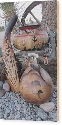 Group Shot  Wood Print by Barbara Prestridge