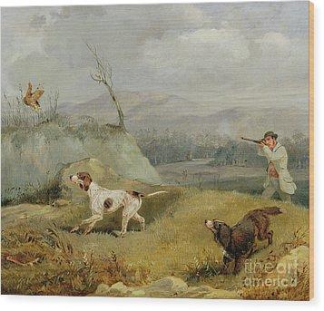 Grouse Shooting  Wood Print by Henry Thomas Alken