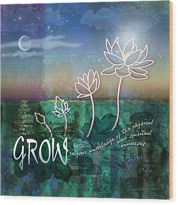 Wood Print featuring the digital art Grow by Evie Cook