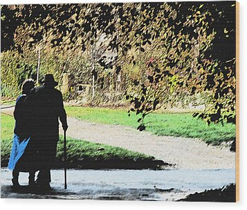 Grow Old With Me Wood Print