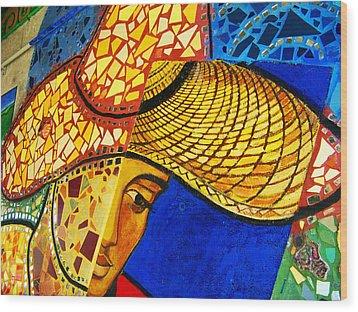 Growing Edgewater Mosaic Wood Print