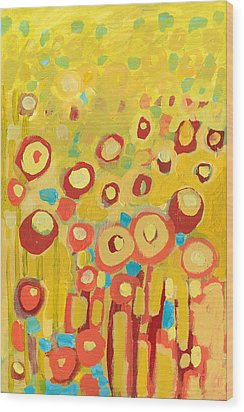 Growing In Yellow No 2 Wood Print by Jennifer Lommers