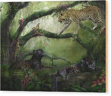 Growing Wild Wood Print by Carol Cavalaris