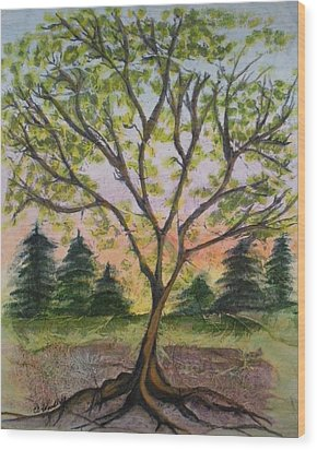 Growth Wood Print by CB Woodling