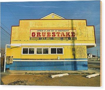 Grubstake Wood Print by Steven Ainsworth