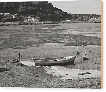 Wood Print featuring the photograph Gruissan  by Cendrine Marrouat
