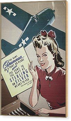 Grumman Sterling Poster Wood Print