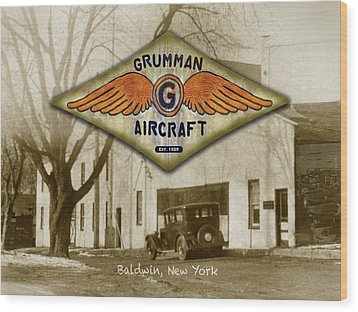 Grumman Wings Wood Print