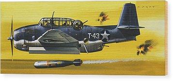 Grummen Tbf1 Avenger Bomber Wood Print