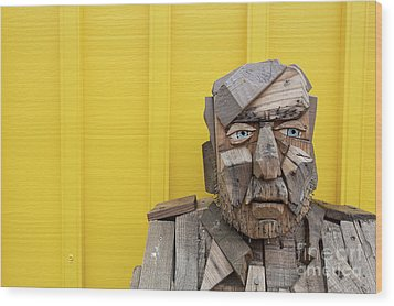 Wood Print featuring the photograph Grumpy Old Man by Edward Fielding