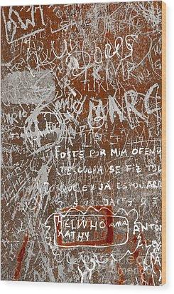 Grunge Background Wood Print by Carlos Caetano