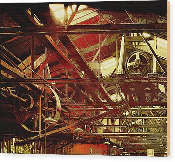 Wood Print featuring the photograph Grunge Power System by Robert G Kernodle
