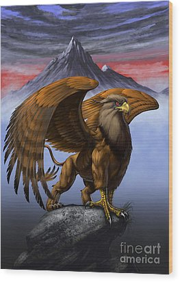 Gryphon Wood Print by Stanley Morrison