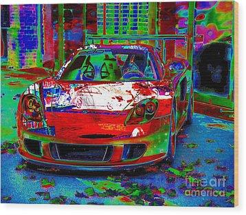 Gt Porsche Carrera Wood Print