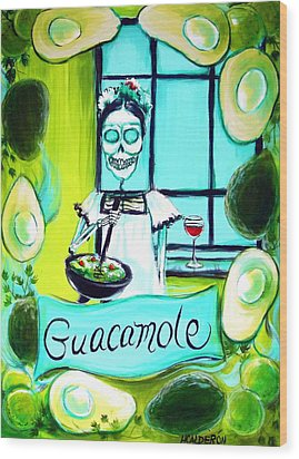 Guacamole Wood Print by Heather Calderon