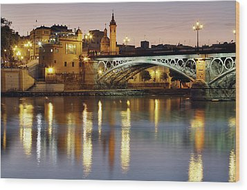 Guadalquivir Wood Print by Gustavo's photos